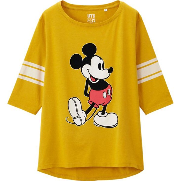 UNIQLOR - WOMEN Disney Project 3/4 SLEEVE GRAPHIC T-SHIRT
