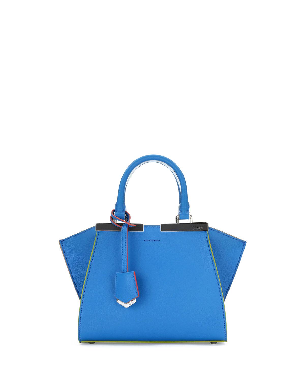 6b0c4e250018 Fendi 3Jours Mini Painted-Edges Leather Satchel Bag